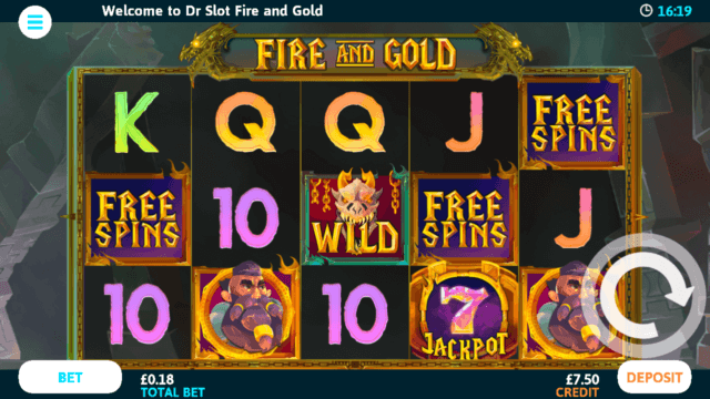 Fire & Gold Mobile Slots - Play Today at Dr Slot Mobile Casino
